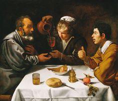 Dining by Diego Velázquez, 1613-1624. Szépművészeti Múzeum, CC BY-NC-ND