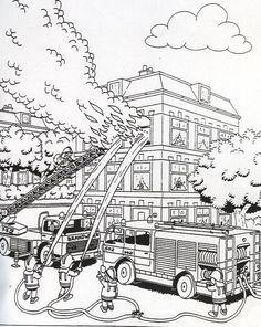 Coloring Page Fire Brigade