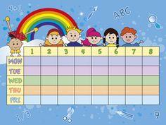 Weekly School Schedule Timetable 2 - KidsPressMagazine.com
