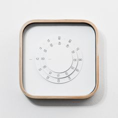 wood clock minimalist