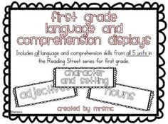 Language and comprehension displays for reading street 1st grade