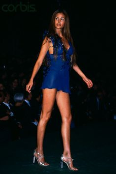 Elsa Benitez Walking on Victoria's Secret Fashion Show 1999