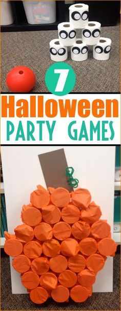 Halloween is a time to play games, eat treats and make silly crafts. These boo-rific games and activities are perfect for a kids Halloween party or school class party. Bean Bag Toss. Attach plast…