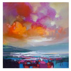 "Scott Naismith Magenta Sky Study II Print: A beautiful, high quality giclee print ""Magenta Sky Study II"" by Scott Naismith. This is a limited edition of 195 copies. It is signed and editioned by Scott Naismith and comes complete with a certificate of authenticity."