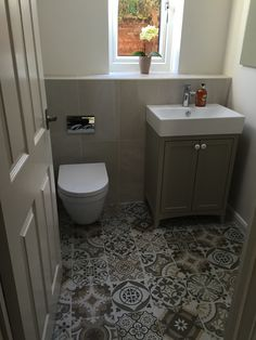 My Cloakroom After! Bathroom Ideas, Toilet, Bathrooms, Vanity, Flooring, Deco, Inspiration, Home, Guest Toilet