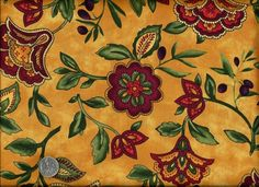 1/2 Yard Quilt Fabric Sorento Tuscan Floral Yellow Gold French Country | auntiechrisquiltfabric - Bags & Purses on ArtFi