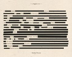 I love blackout poetry! Blackout Poetry, Pretty Words, Beautiful Words, Beautiful Poetry, Beautiful Life, Beautiful Things, You Are My Moon, Found Poetry, I Think Of You