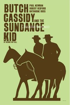 Movie poster Butch Cassidy and the Sundance Kid by ClaudiaVarosio