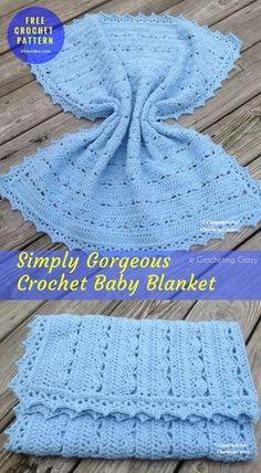 Simply Gorgeous Crochet #BabyBlanket #FreePatternCrochet → Written | US Terms Level: upper #beginner yarn: Weight Yarn (Lion Brand Pound of Love) / Worsted (9 wpi)Hook: 6.0 mm (J). Author: crochetingcrazy