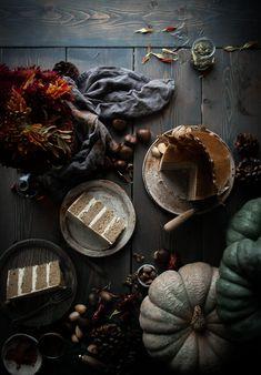 Pumpkin Layer Cake + Egg Nog German Buttercream & Pumpkin Seed Brittle - The Kitchen McCabe