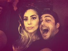 Lady Gaga with her boo at dad's restaurant