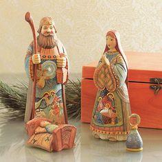Handpainted Russian Nativity