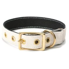 Check out this item at One Kings Lane! Canvas Collar, White/Black