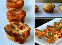 Buffalo Chicken Pot Pies other great mini appetizer ideas!