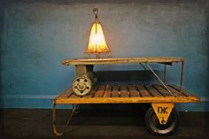 A couple of Authentic Vintage Trolley Coffee Tables… not to be confused with the repro looky-likeys out there!
