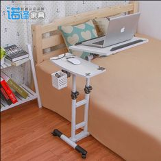 Removable rotating twin column lift bed laptop table sofa side table bedside tables Landmark lazy style