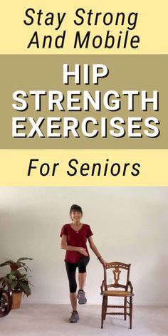 Hip Bursitis Exercises, Hip Mobility Exercises, Hip Strengthening Exercises, Bursitis Hip, Balance Exercises, Chair Exercises, Stretches, Exercises For Hips, Core Exercises