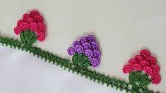 Crochet Lace Making with Pistachio Knitting Stiches, Baby Knitting, Knitting Patterns, Crochet Patterns, Crochet Flower Tutorial, Crochet Flowers, Knitted Shawls, Knitted Bags, Saree Kuchu Designs