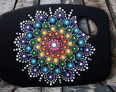 Bijou de planche à découper menu Mandala (décorative seulement)