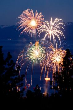 Fireworks in Lake Tahoe Fireworks Show, Fourth Of July, Fireworks Cake, Lake Tahoe Map, South Lake Tahoe, California Love, California Travel, Real Estate Pictures
