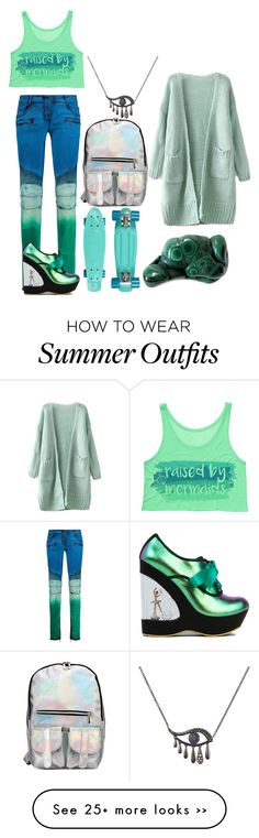"""I'm gonna take this gemstone and throw it at your head"" by knight-of-breath on Polyvore featuring Balmain, Irregular Choice and Ileana Makri"