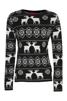 Christmas Sammie Reindeer Fairisle Jumper / by Boohoo