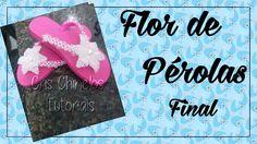 Flor de pérolas (Final) Chinelos Personalizados,Chinelos Customizados,Chinelos Bordados