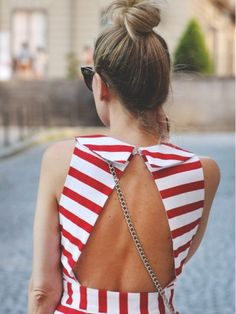 I love everyone of these outfits! 20 Stylish Wedding Guest Looks. Looks Pinterest, Wedding Guest Looks, Cooler Look, Outfit Trends, Outfit Ideas, Casual Styles, Inspiration Mode, Open Back Dresses, Red And White Stripes