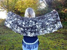 crocheted shawl/wrap using hand spun Jacob sheep wool by RebeccasWool on Etsy Jacob Sheep, Crochet Shawls And Wraps, Sheep Wool, Hand Spinning, Handmade Items, Pure Products, Etsy, Color, Things To Sell