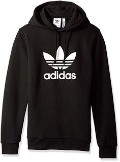 383be7f959b adidas Originals Men's Trefoil Hoodie, Black, XL Herenmode, Mode Outfits,  Mode Ideeën