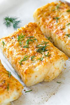 Shellfish Recipes, Seafood Recipes, Dinner Recipes, Cooking Recipes, Healthy Fish Recipes, Healthy Meals, Halibut Baked, Baked Fish, Baked Halibut Recipes
