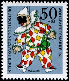 designed by Canadian artist Erna de Vries, printed by lithography, and issued by Germany (West Berlin) on October 6, 1970