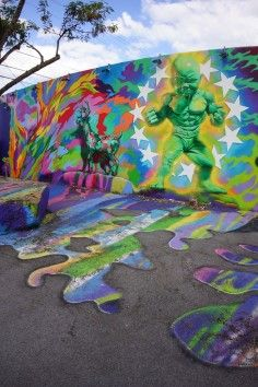 Wynwood Walls is world class street art in Miami and is a must see sight!