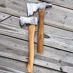 Belknap Bluegrass half hatchet on a new old stock handle made by Lakeside. Keen Kutter hatchet.