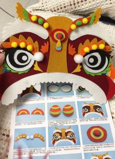 Pre-cut felt kit - Chinese New Year Lion dance decoration Size: 56cm x 27cm The kit includes everything you need to make the cute Chinese New Year decoration as shown in the pictures. Photo instruction is included. **This item will be mailed out in 10-15 business days** Please kindly read my sh