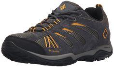 Columbia Men's North Plains Drifter Trail Shoe, Charcoal/Golden Yellow, 8.5 D US