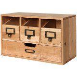 Rustic Desktop Wooden Office Organizer Drawers / Craft Supplies Holder Storage Cabinet, Brown - MyGift - http://shopattonys.com/rustic-desktop-wooden-office-organizer-drawers-craft-supplies-holder-storage-cabinet-brown-mygift/