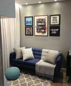 Puro chame esta sala! Autoria desconhecida, quem souber digam aqui. #decoraape #sala #livingroom #apartamentopequeno #ape #apartaments #apartamento #lovedecor #lovedesign #inspiracao #inspiration