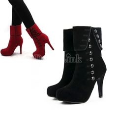 $13.60Hot Sexy Women Platform Pumps Stiletto High Heels Ankle Boots Shoes