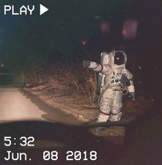 M O O N V E I N S 1 0 1 #vhs #aesthetic #astronaut #space #road #night #grunge #car