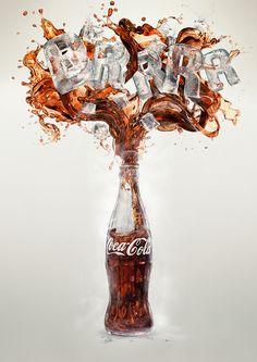 Coca-Cola BRRR! by Mauricio Lagosta, via Behance