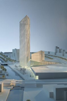 Barkow Leibinger Win Competition For Berlin's Tallest High-Rise,Model. Image © Werner Hutmacher