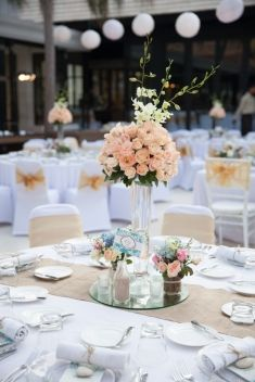Orange wedding table idea | Project by Jolie Party Decor http://www.bridestory.com/jolie-party-decor/projects/decoration-13