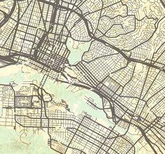 Mission Possible SF Maps Maps Vintage Travel Ads Pinterest - Vintage sf map