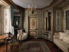 original room from the century Hotel Crillon, Paris - 1758 - now preserved in the Metropolitan Museum, NY - interior
