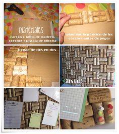 Las Creaciones de Bea y Natalia: Tablón de corchos http://lascreacionesdebeaynatalia.blogspot.com/2013/04/tablon-de-corchos.html