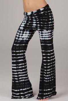 e9b564cd9d LVR Fashion Organic Fold Over Flares-Bamboo Stripe Comfy Pants, Lounge Pants,  Workout
