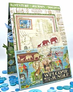 Welcome to our Jungle Baby Boy Card, Safari Adventure, by Kathy Clement, Product…