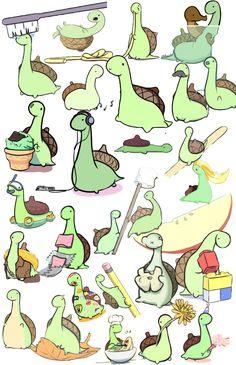 Sheldon the Tiny Dinosaur Who Thinks He's a Turtle Sheldon The Tiny Dinosaur, Cute Dinosaur, Cute Comics, Funny Comics, Cute Animal Drawings, Cute Drawings, Dinosaur Background, Funny Cute, Hilarious