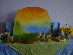 Easter Nature Table Oster-Jahreszeitentisch